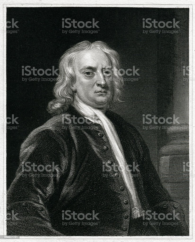 Isaac Newton royalty-free stock vector art