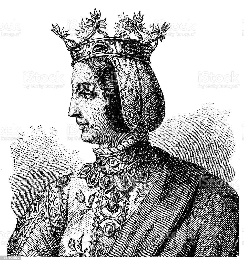 Isabella I Of Castile - Queen Of Spain stock photo
