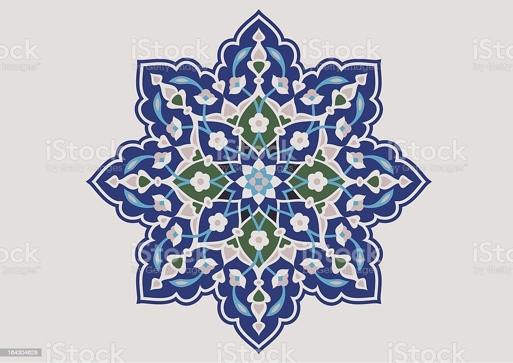 Isfahan Flower Ornament royalty-free stock vector art