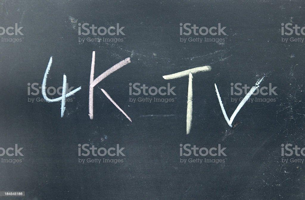 4K TV isgn royalty-free stock vector art