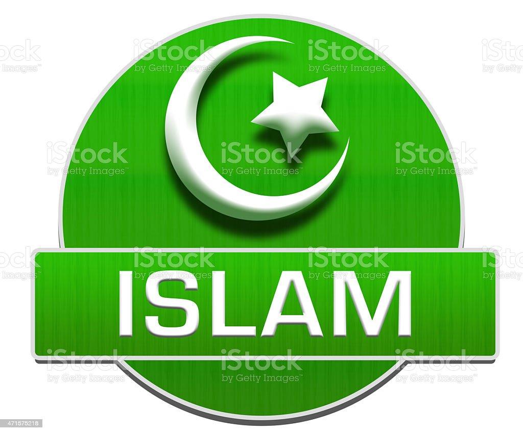 Islam Green Circle vector art illustration