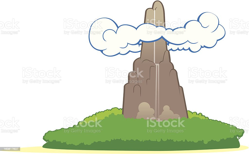 Island with rock and cloud royalty-free stock vector art