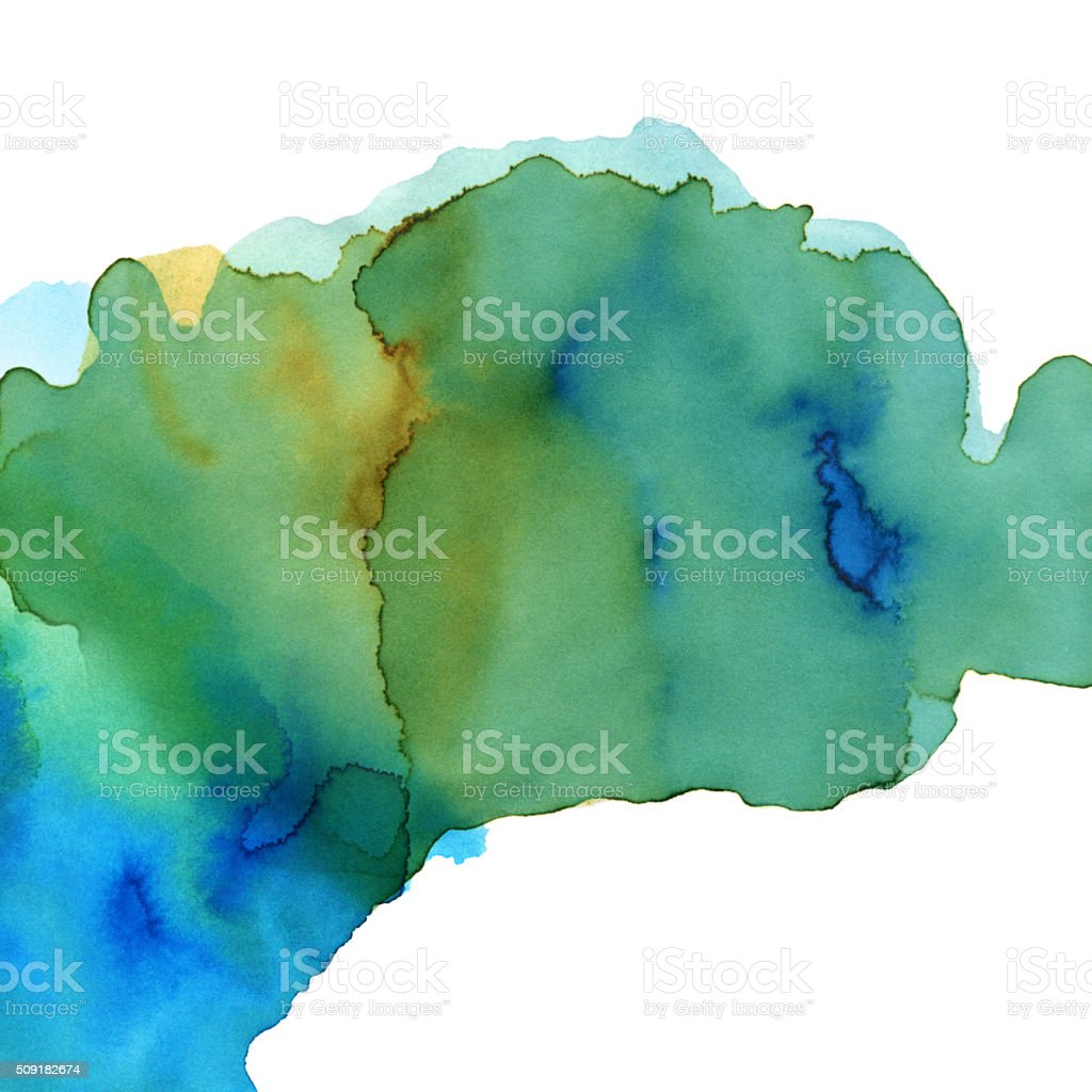 Isolated Blue Green Watercolor Paint Texture Background vector art illustration