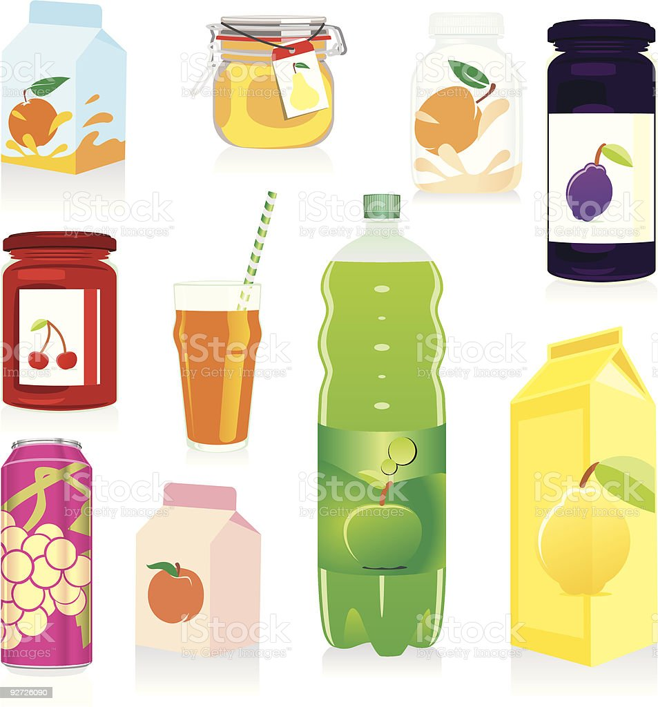 isolated fruit containers royalty-free stock vector art