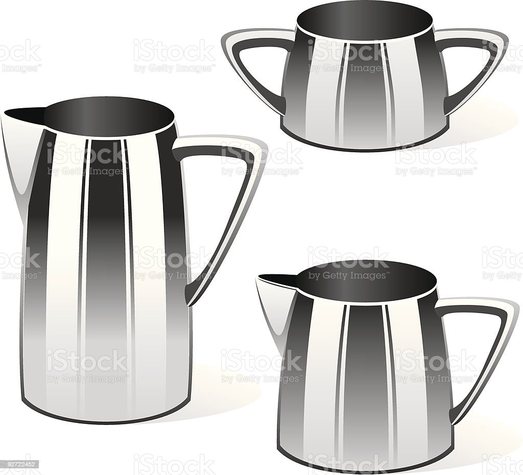 isolated kettles royalty-free stock vector art