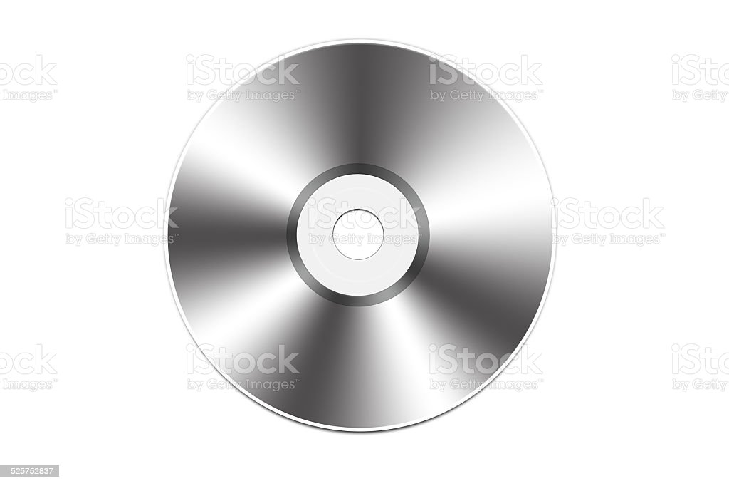 CD isolated on white background. vector art illustration