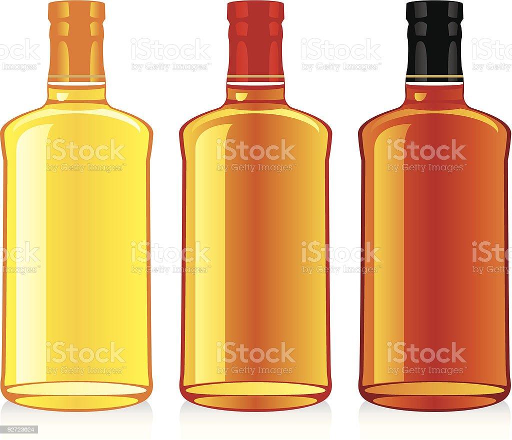 isolated whiskey bottles royalty-free stock vector art