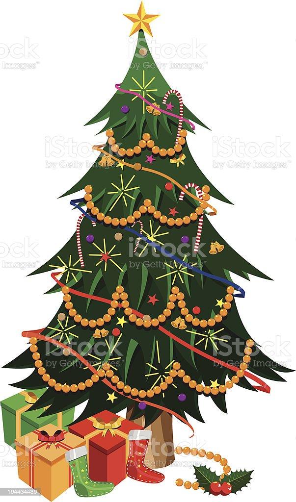 Isometric christmas tree royalty-free stock vector art