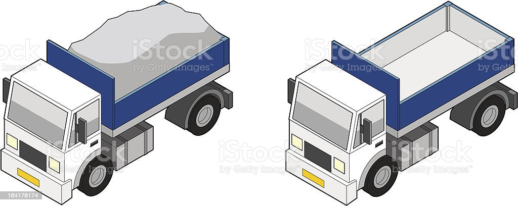 Isometric Dumper Truck vector art illustration