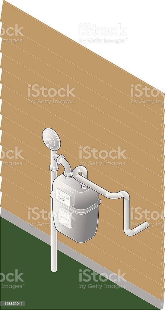 Isometric Gas Meter vector art illustration