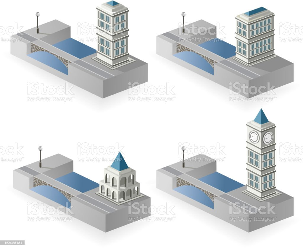 Isometric houses royalty-free stock vector art