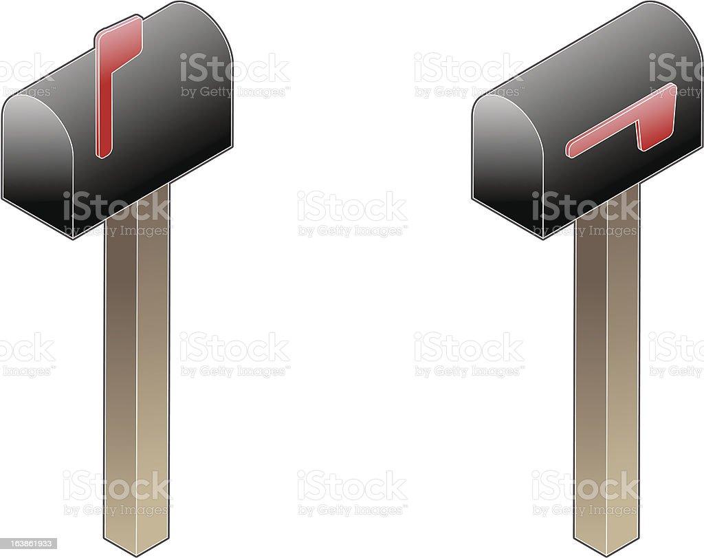 Isometric Mail Box royalty-free stock vector art