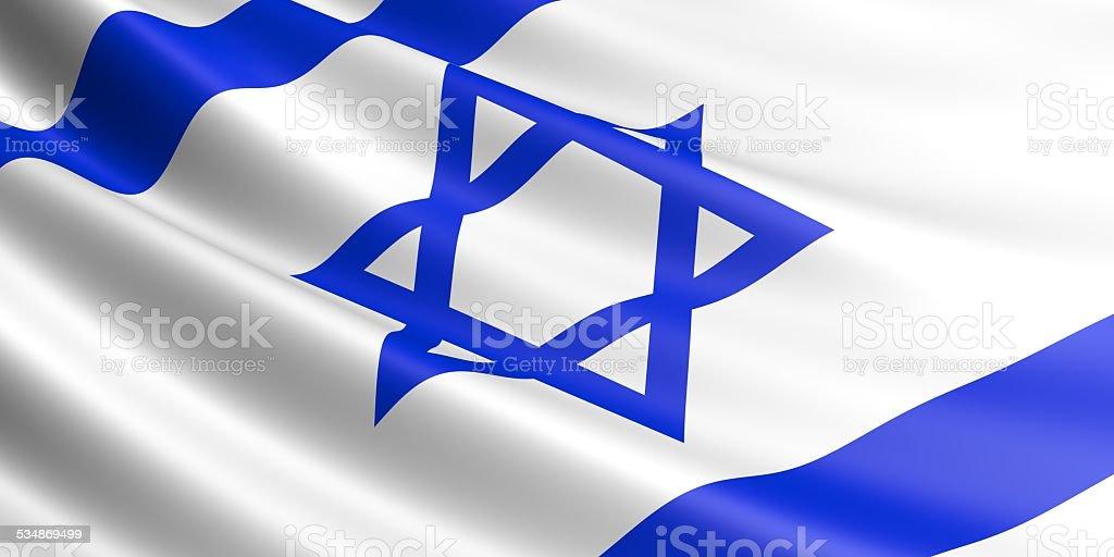 Israel flag. royalty-free stock vector art