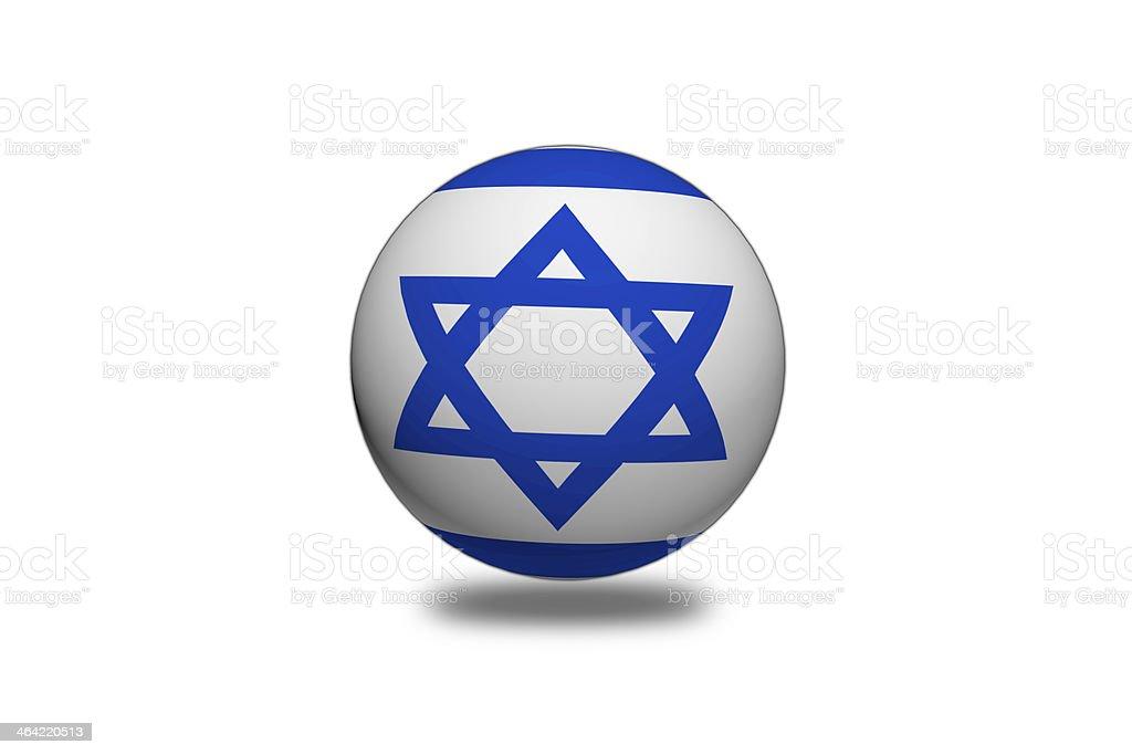 Israel Flag sphere. royalty-free stock vector art