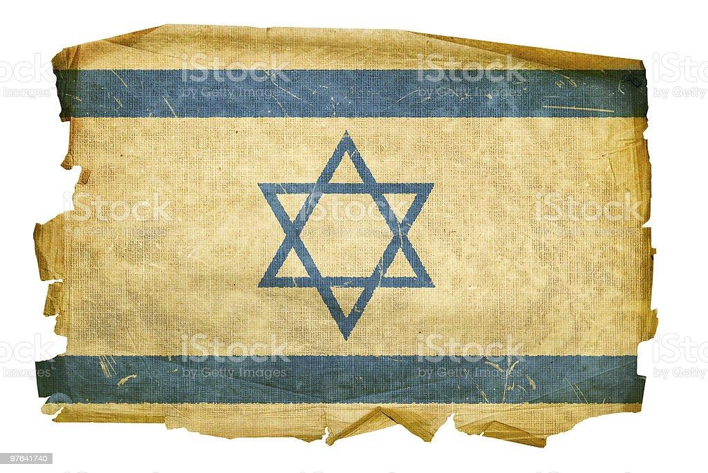 Israeli Flag old, isolated on white background. royalty-free stock vector art