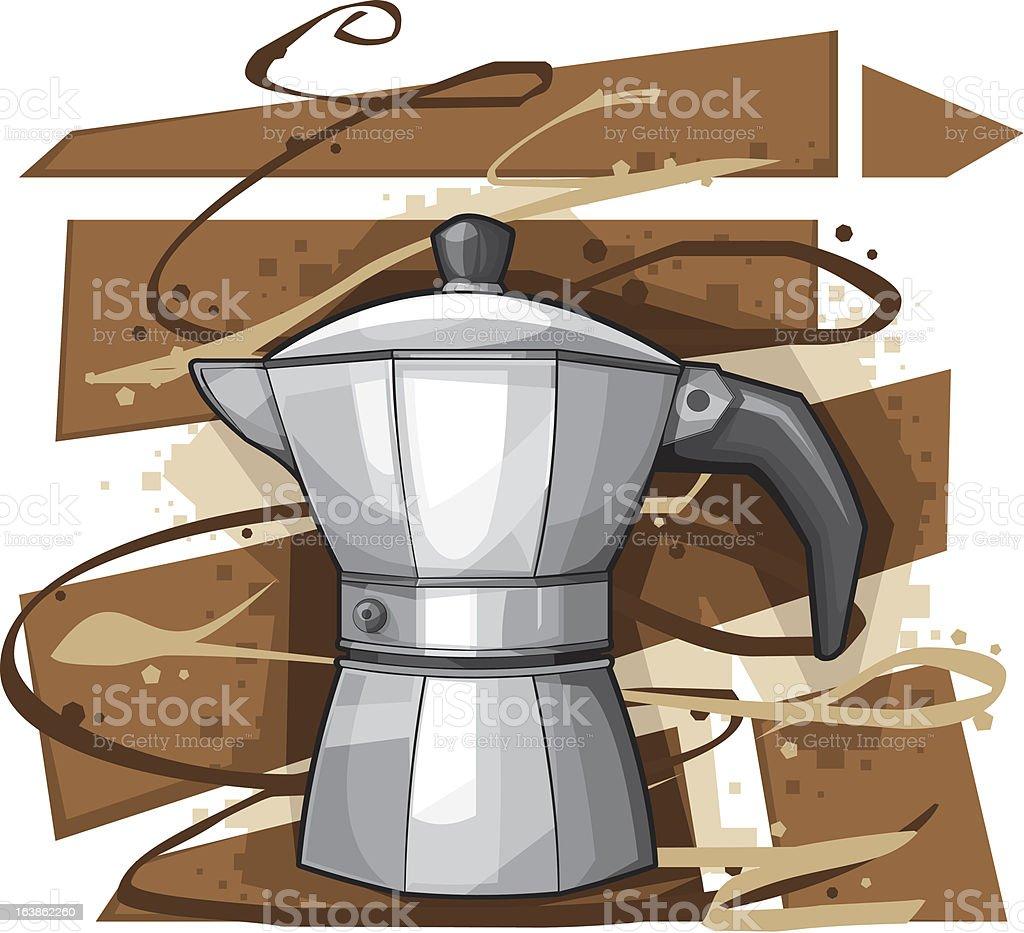 Italian Coffee Mocha royalty-free stock vector art