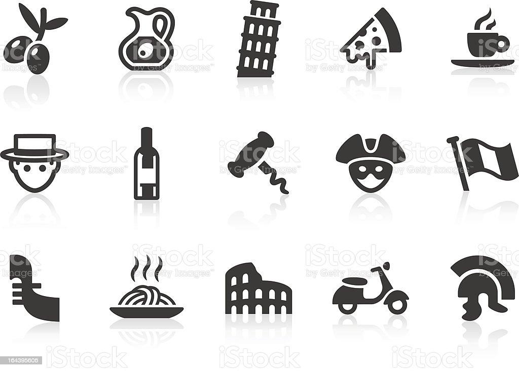 Italian Culture icons vector art illustration