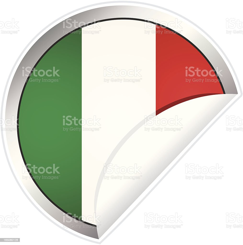 Italian Flag Sticker royalty-free stock vector art