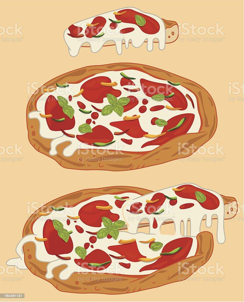 Italian pizza vector art illustration