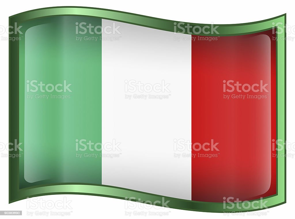 Italy Flag Icon, isolated on white background. royalty-free stock vector art