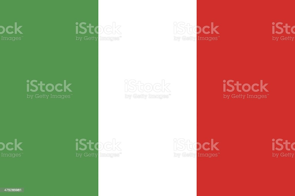 Italy Flag vector art illustration