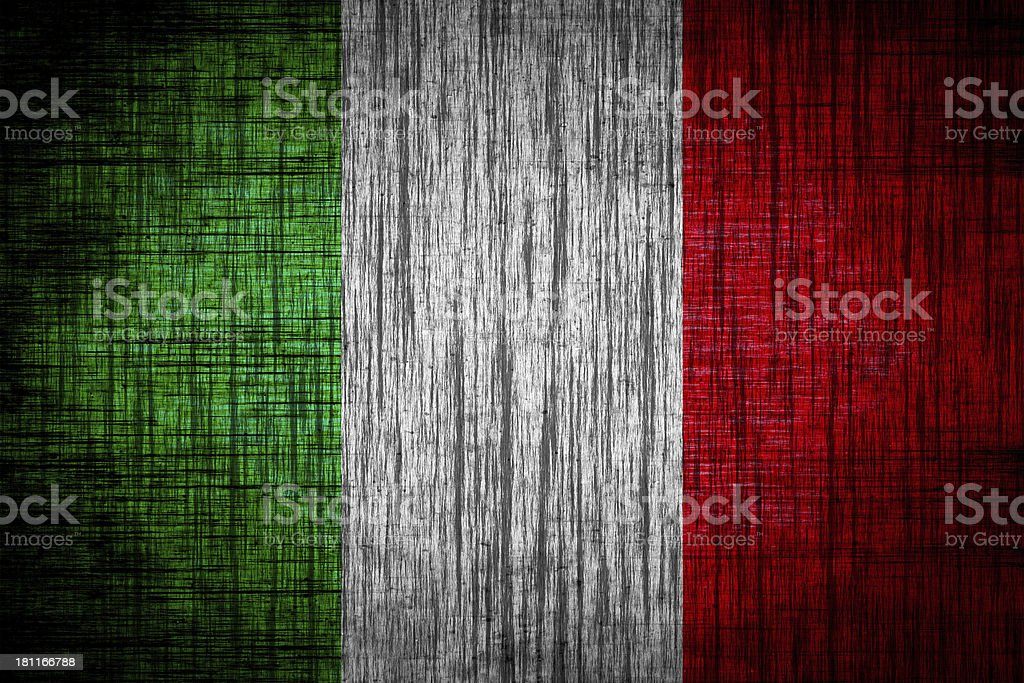 Italy flag on wood texture royalty-free stock vector art