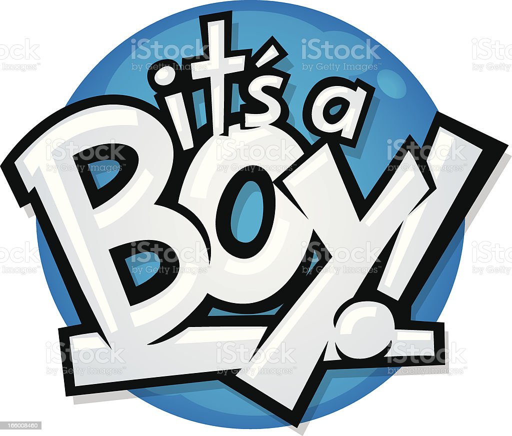 its a boy royalty-free stock vector art