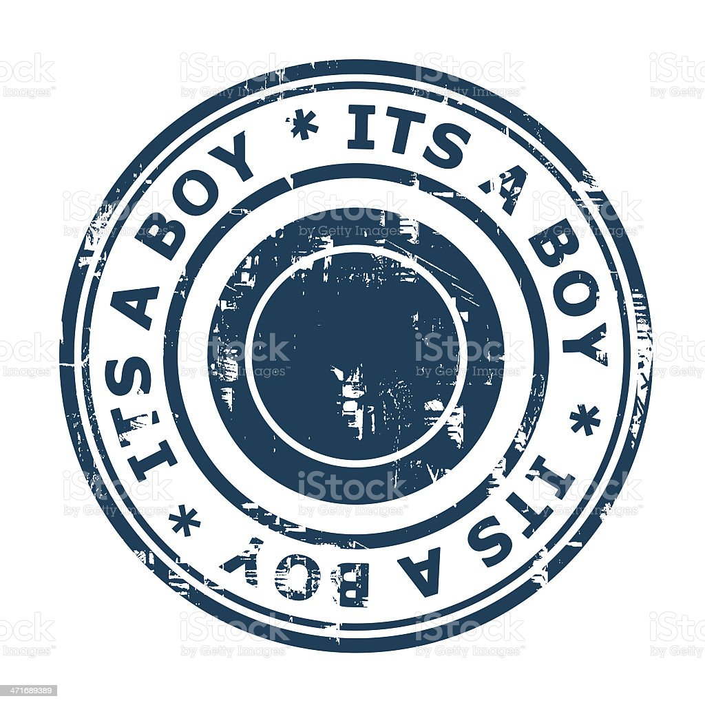 Its a boy stamp royalty-free stock vector art