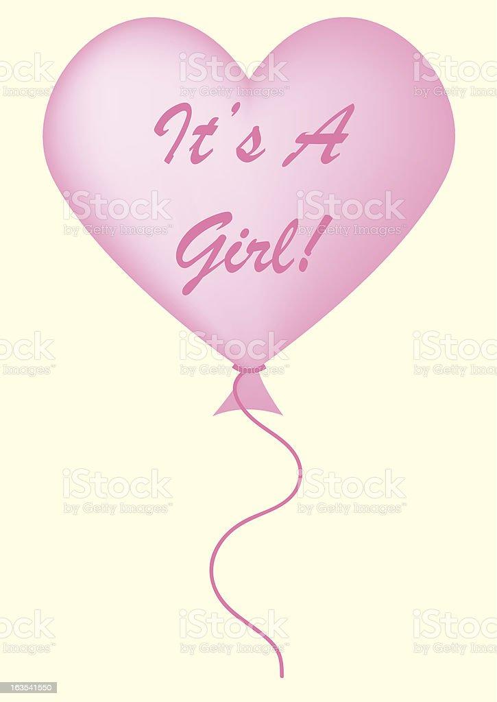 It's a girl balloon vector art illustration