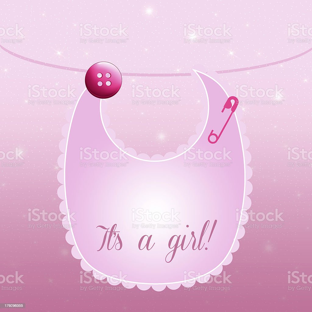 It's a girl vector art illustration