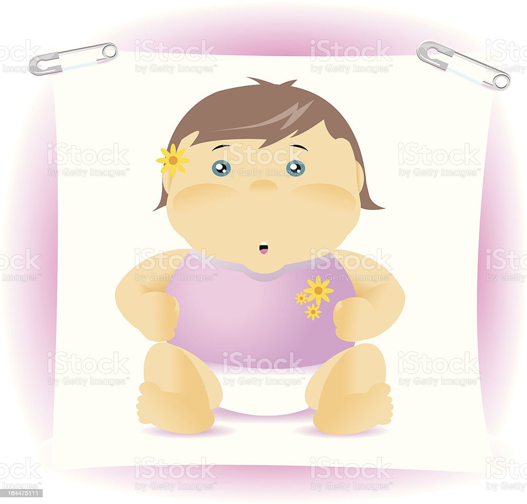 It's a girl! Thank You royalty-free stock vector art