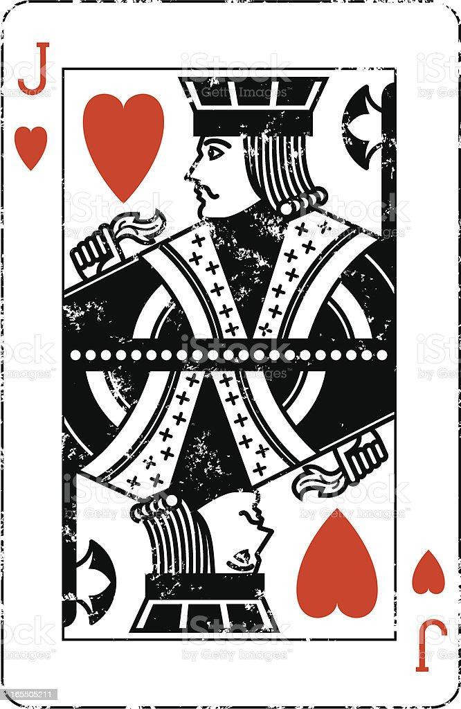 Jack of Hearts Grunge royalty-free stock vector art