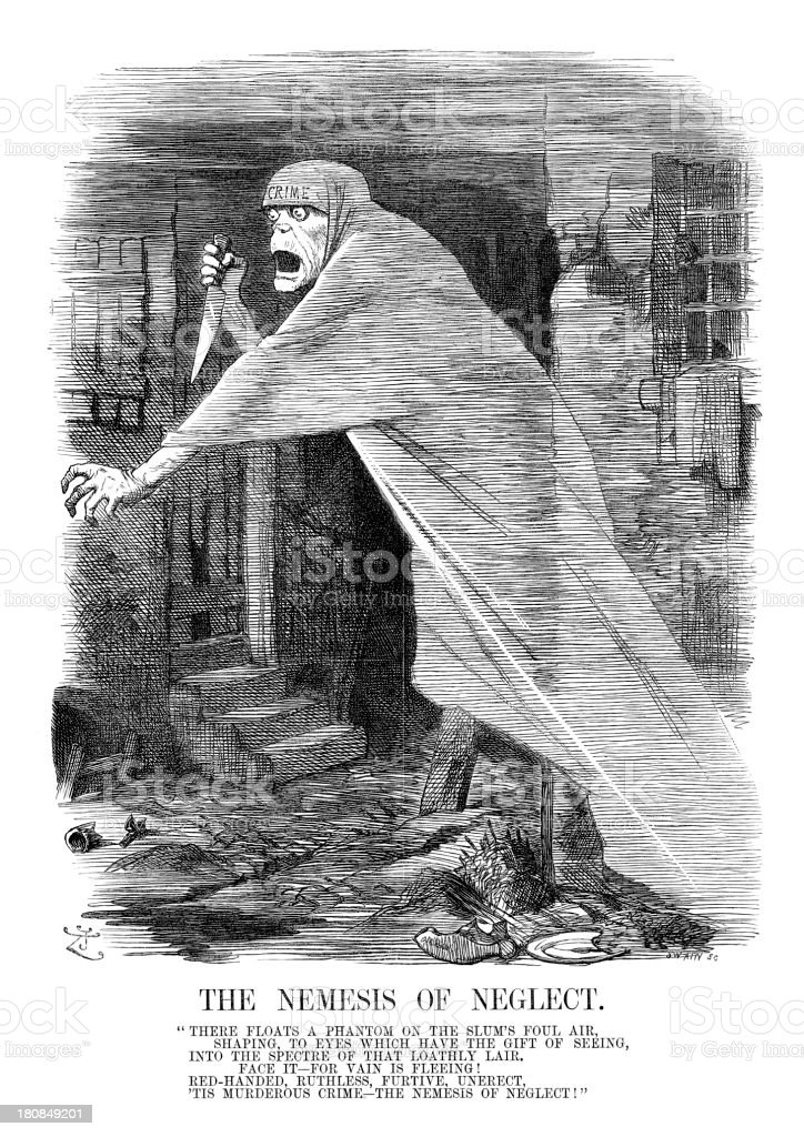 Jack the Ripper - Nemesis of Neglect royalty-free stock vector art