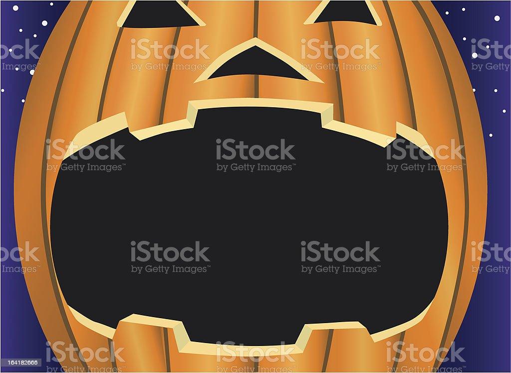 Jack-O-Lantern frame vector art illustration
