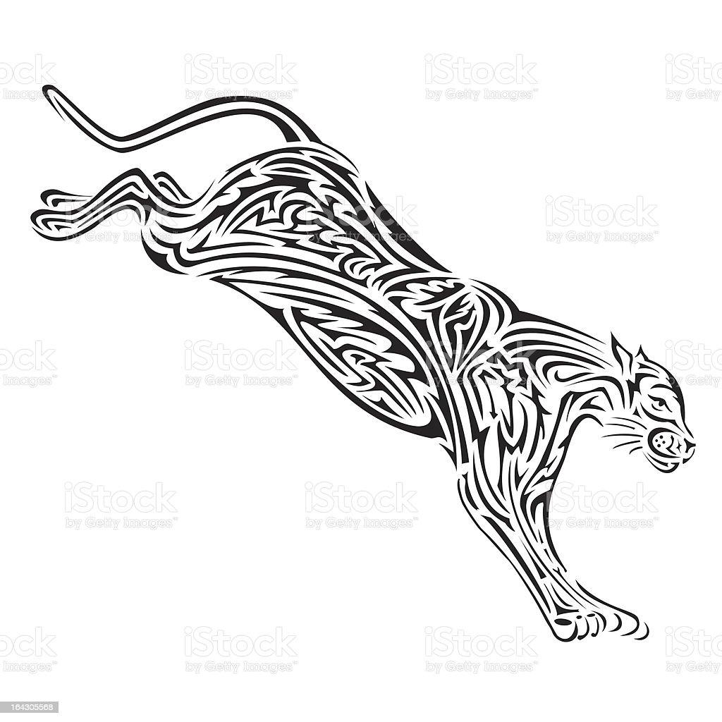 Jaguar royalty-free stock vector art