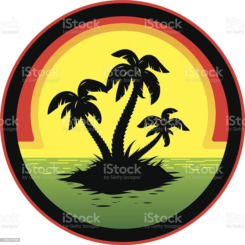 Jamaican sunset royalty-free stock vector art