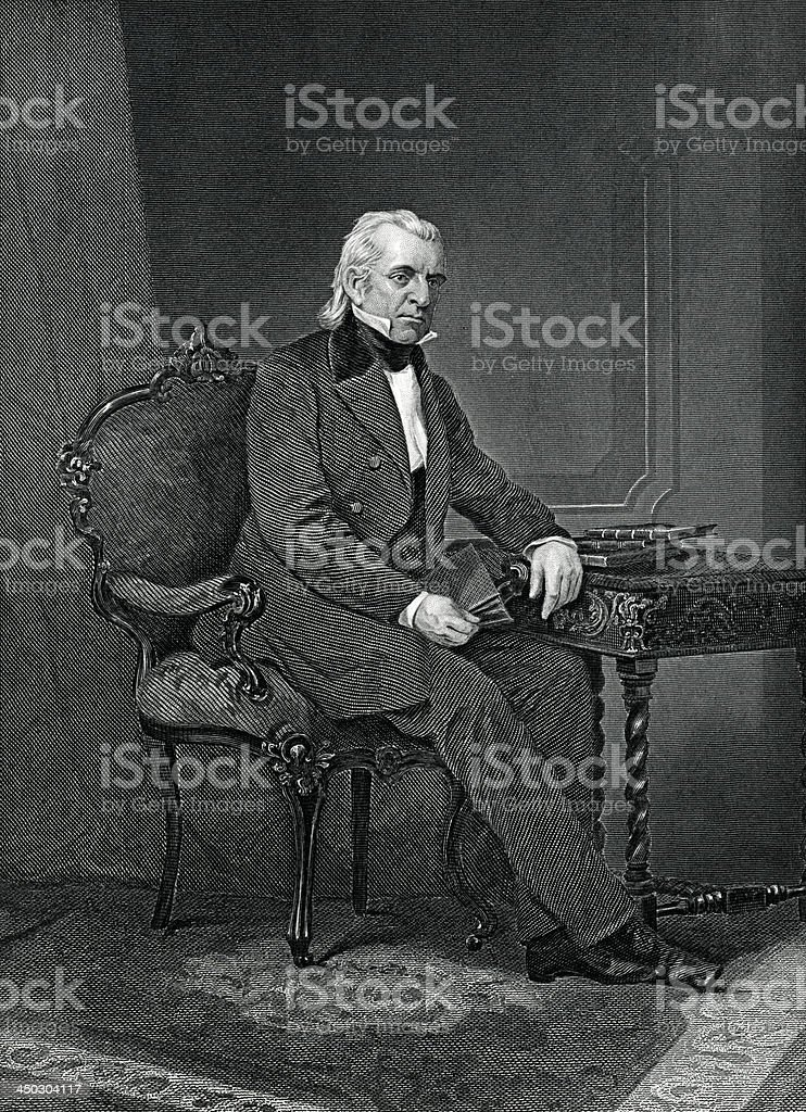 James K. Polk royalty-free stock vector art