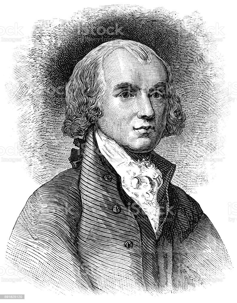 James Madison vector art illustration