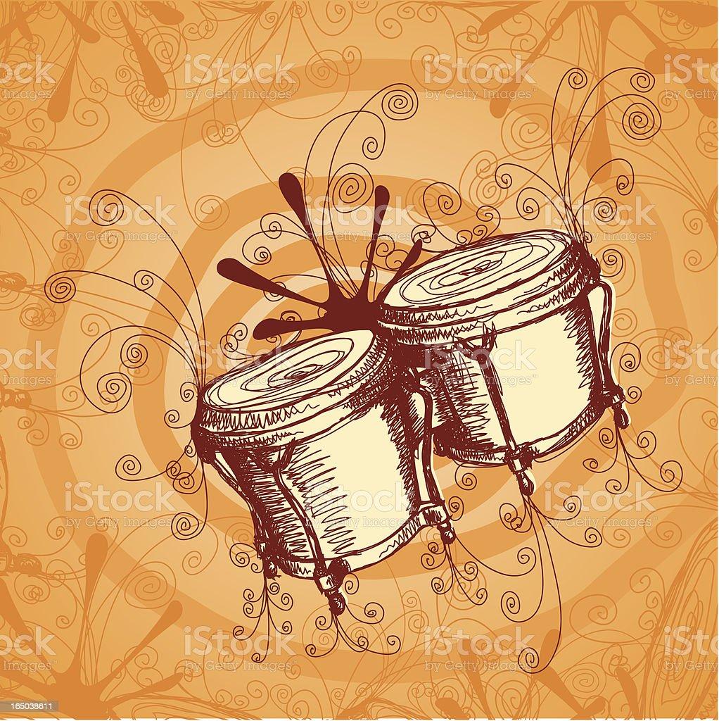 Jamming Bongos vector art illustration