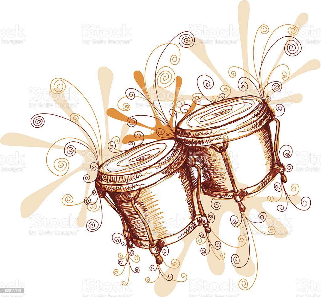 Jamming Bongos vector art illustration