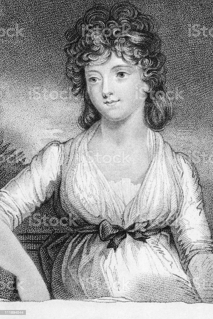 Jane Elizabeth (Coke), Viscountess Andover royalty-free stock vector art