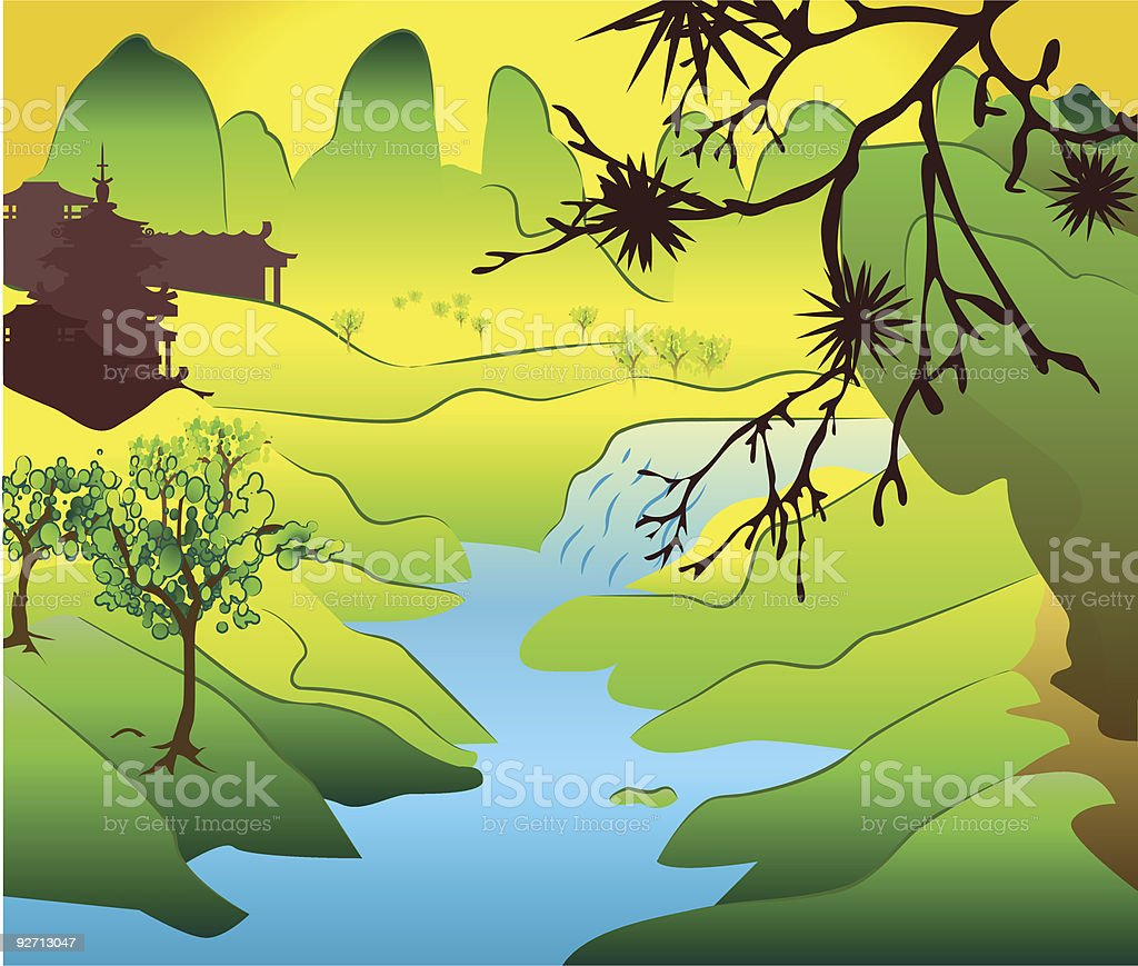 Japan background royalty-free stock vector art
