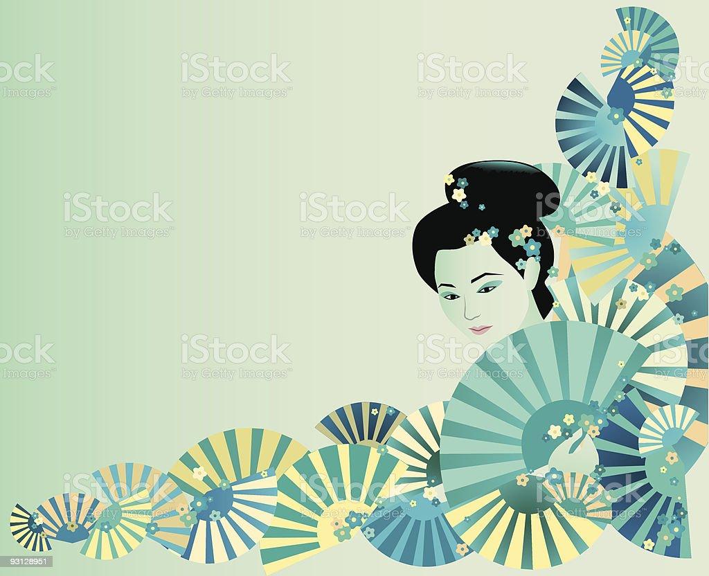 Japan background vector art illustration