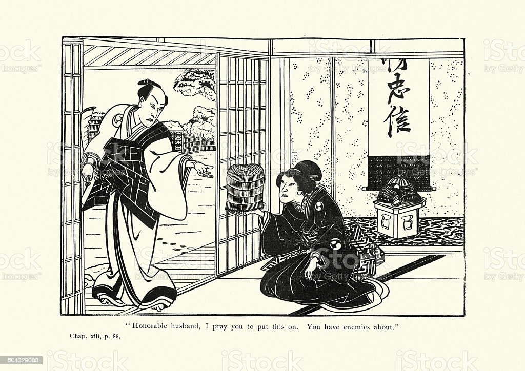 Japanese Art - The Forty seven Ronin vector art illustration