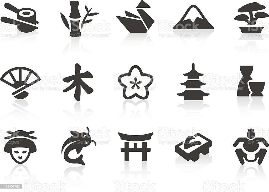 Japanese Culture icons vector art illustration