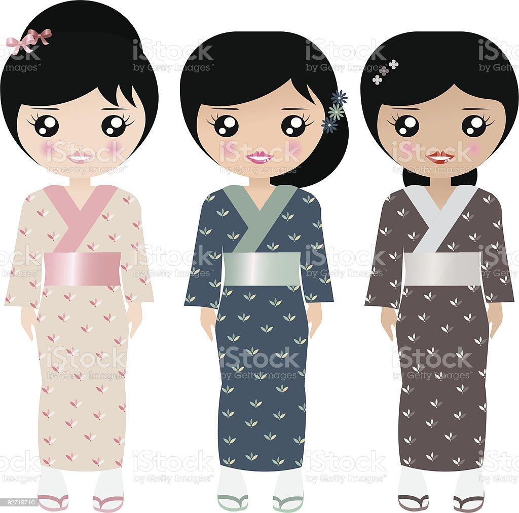 Marioneta de papel japonesa illustracion libre de derechos libre de derechos