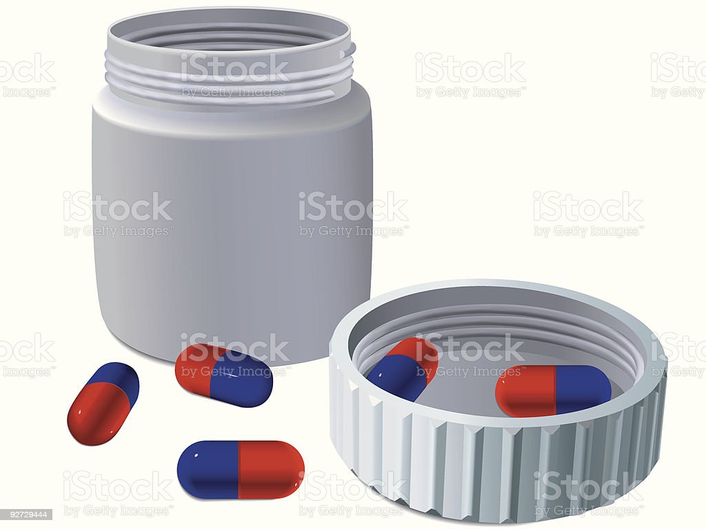 Jar for medicines royalty-free stock vector art