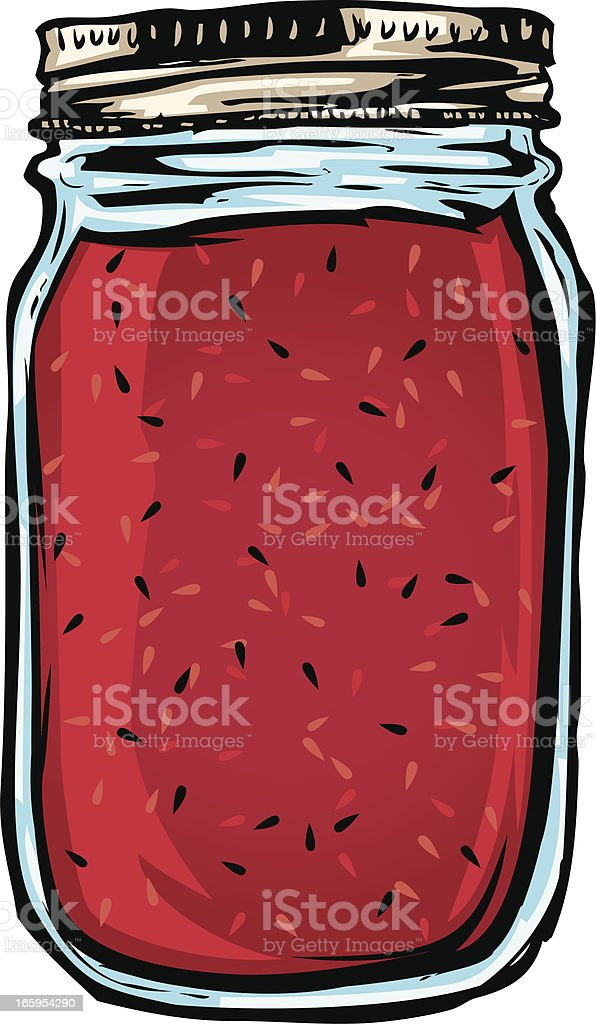 jar of jelly vector art illustration