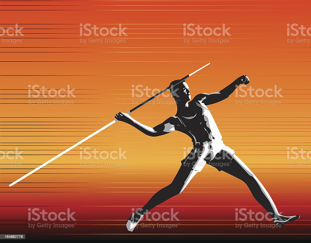 Javelin royalty-free stock vector art