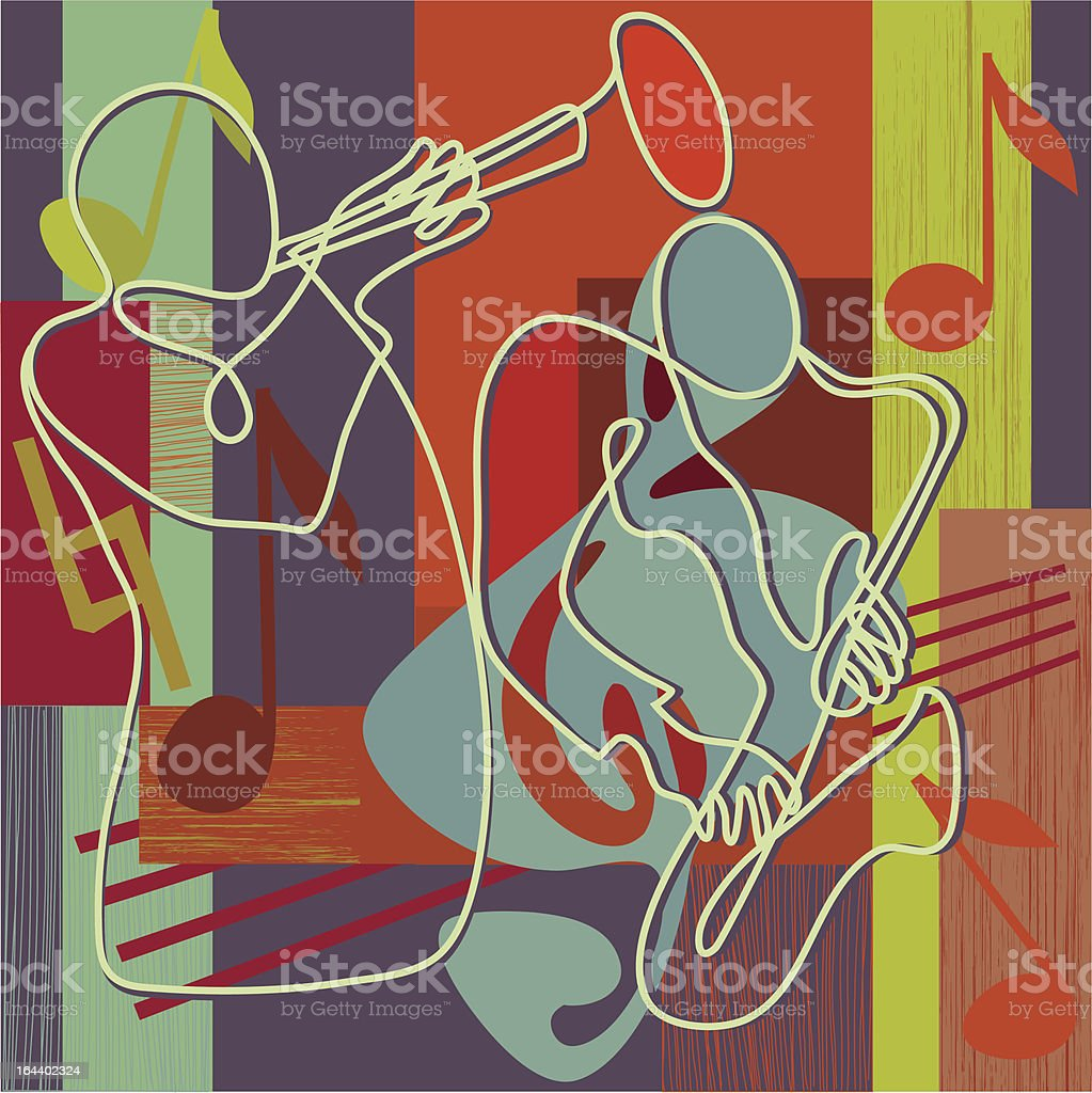 Jazz - festival poster or CD cover royalty-free stock vector art